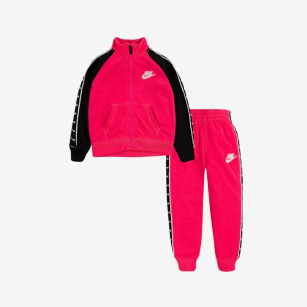 나이키 트라이콧 테이핑 상하세트 핑크