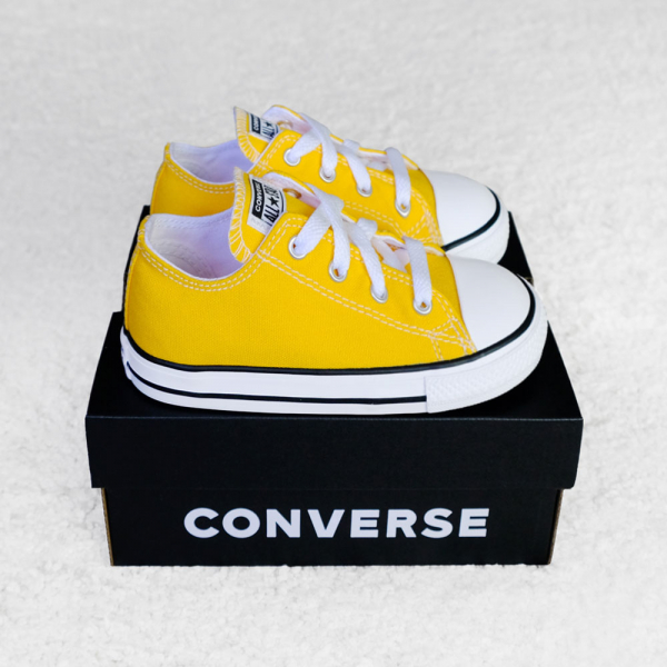 컨버스 올스타 로우 레몬 옐로우